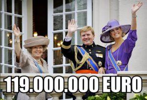 Geld, Koningshuis en Onkosten